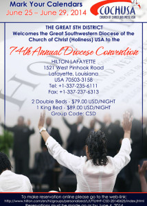 74th Annual Diocese Convention @ Hilton Lafayette | Lafayette | Louisiana | United States